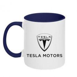 Кружка двухцветная Tesla Motors - FatLine