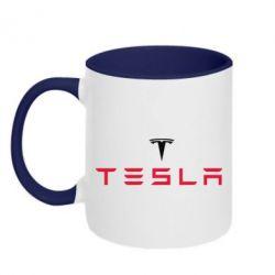Кружка двухцветная Tesla - FatLine