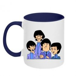 Кружка двухцветная The Beatles - FatLine