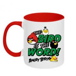 Кружка двухцветная The bird in world Angry Birds - FatLine