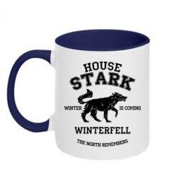 Кружка двухцветная 320ml The North Remembers - House Stark