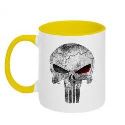 Кружка двухцветная The Punisher Logo - FatLine