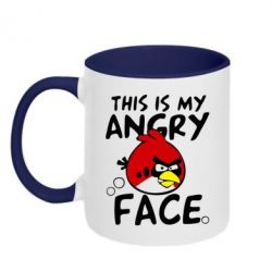 Кружка двухцветная This is my angry face - FatLine