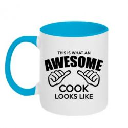 Кружка двухцветная This is what an awesome cook looks like - FatLine