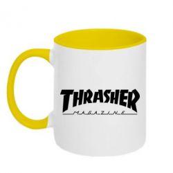Кружка двухцветная Thrasher Magazine - FatLine