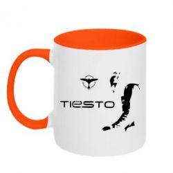 Кружка двухцветная Tiesto - FatLine