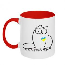 Кружка двухцветная Типовий український кіт