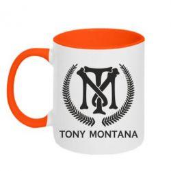 Кружка двоколірна 320ml Tony Montana Logo