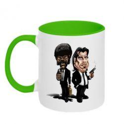 Кружка двухцветная 320ml Travolta & L Jackson