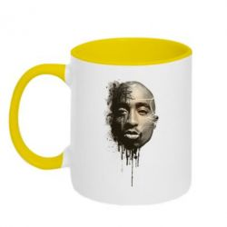 Кружка двухцветная Tupac Shakur