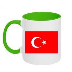 Кружка двухцветная Турция - FatLine