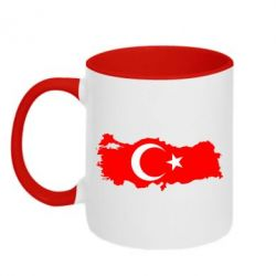 Кружка двухцветная Turkey - FatLine