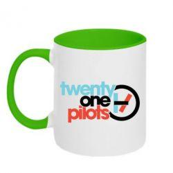 Кружка двоколірна 320ml Twenty One Pilots Logo
