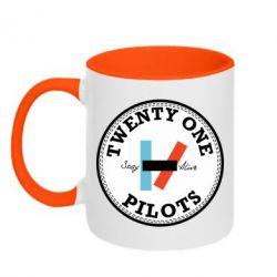 Кружка двоколірна 320ml Twenty One Pilots Stay Alive