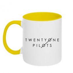 Кружка двухцветная Twenty One Pilots - FatLine