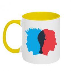 Кружка двухцветная Tyler Durden & Jack - FatLine