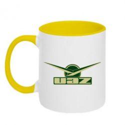Кружка двухцветная UAZ Лого - FatLine