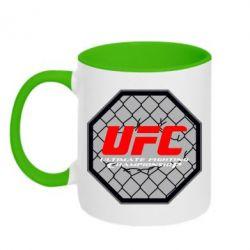 Кружка двухцветная UFC Cage - FatLine