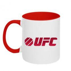 Кружка двухцветная UFC Main Logo - FatLine