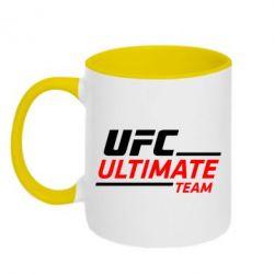 Кружка двухцветная UFC Ultimate Team - FatLine