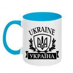 Кружка двухцветная Україна ненька - FatLine