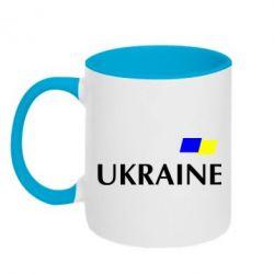 Кружка двухцветная UKRAINE FLAG - FatLine