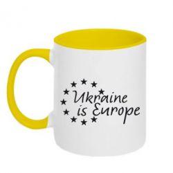 Кружка двухцветная Ukraine in Europe - FatLine