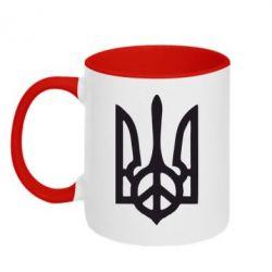 Кружка двухцветная Ukraine Peace - FatLine