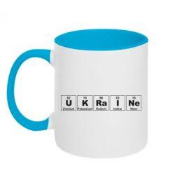Кружка двухцветная UKRAINE (Таблица Менделеева) - FatLine