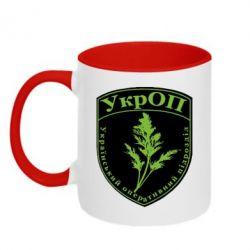 Кружка двухцветная Український оперативний підрозділ - FatLine