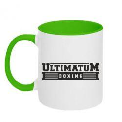 Кружка двухцветная Ultimatum Boxing - FatLine