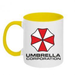 Кружка двухцветная Umbrella - FatLine