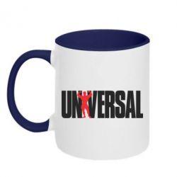 Кружка двухцветная Universal - FatLine