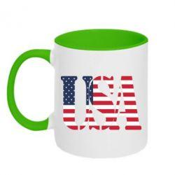 Кружка двухцветная USA - FatLine