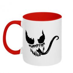 Кружка двухцветная Venom Silhouette - FatLine