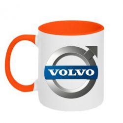 Кружка двухцветная VOLVO 3D - FatLine
