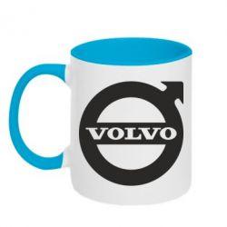 Кружка двухцветная Volvo - FatLine