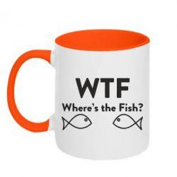Кружка двоколірна 320ml Where is The Fish