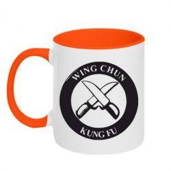 Кружка двухцветная Wing Chun kung fu - FatLine