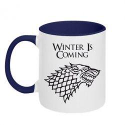 Кружка двухцветная Winter is coming (Игра престолов) - FatLine