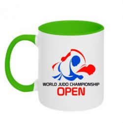 Кружка двухцветная World Judo Championship Open - FatLine