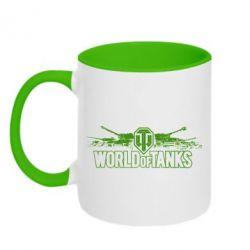 Кружка двухцветная World of Tanks - FatLine