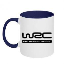 Кружка двухцветная WRC - FatLine