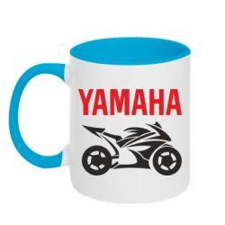 Кружка двухцветная Yamaha Bike - FatLine
