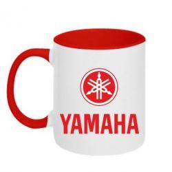 Кружка двухцветная Yamaha Logo(R+W) - FatLine