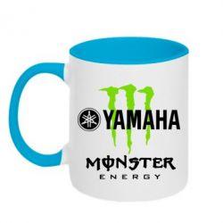 Кружка двухцветная Yamaha Monster Energy - FatLine