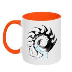 Кружка двухцветная Zerg Symbol - FatLine