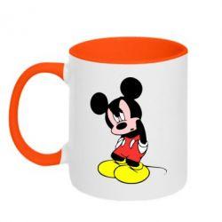 Кружка двухцветная Злой Микки Маус - FatLine