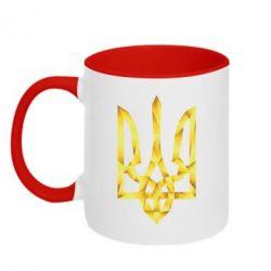 Кружка двухцветная Золотий герб - FatLine