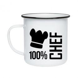 Кружка эмалированная 100% Chef - FatLine